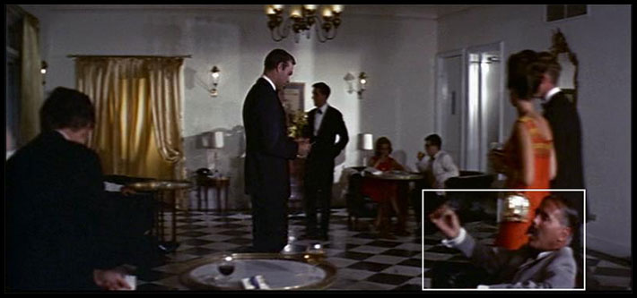 Kevin McClory in Thunderball - a cameo