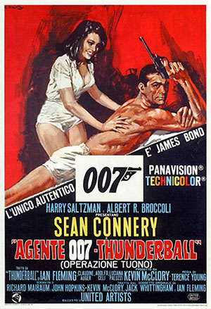 You can clearly see McClory's name in this Thunderball poster