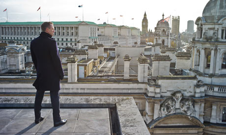 James Bond looking out over England