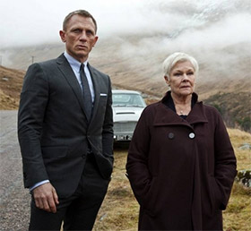 M and James Bond in Scotland in Skyfall
