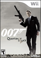 Quantum of Solace Video Game Box Art - Nintendo Wii